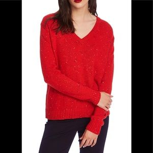 COURT AND ROWE - Nep Flecked V-Neck Sweater NWT
